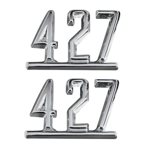 64 65 66 67 Chevy Impala Chevelle Nova Camaro Fender 427 Chrome Script Emblems