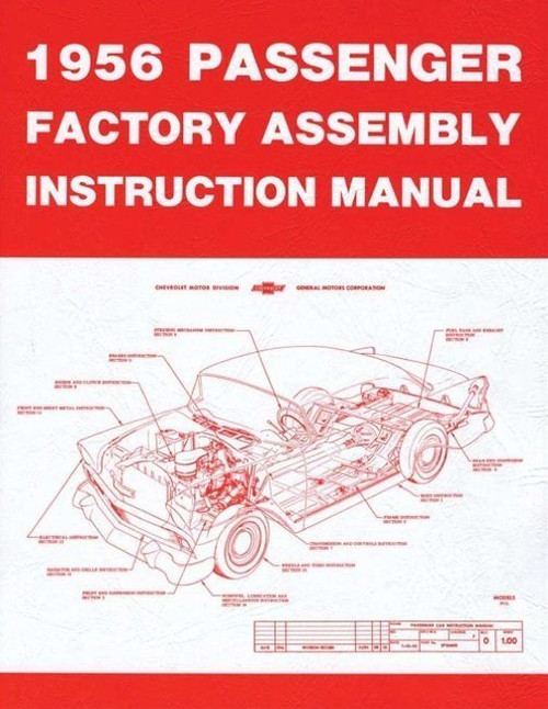 56 1956 CHEVY FACTORY TYPE ASSEMBLY MANUAL BOOK COMPLETE