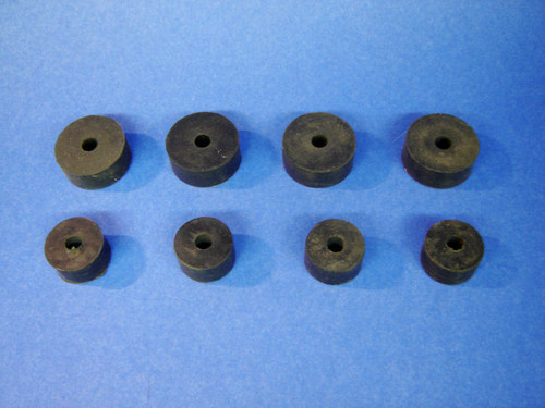 55 56 57 Chevy Front Engine Motor Mount Rubber Bushing Donut Set 1955 1956 1957
