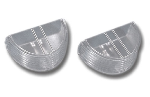 55 1955 CHEVY BACK UP LIGHT LENS CLEAR LENSES PAIR