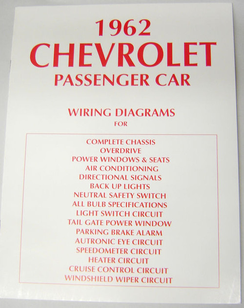 62 chevy impala electrical wiring diagram manual 1962 i 5 classic rh i5chevy com Chevy Wiring Diagrams Color 62 chevy truck wiring diagram