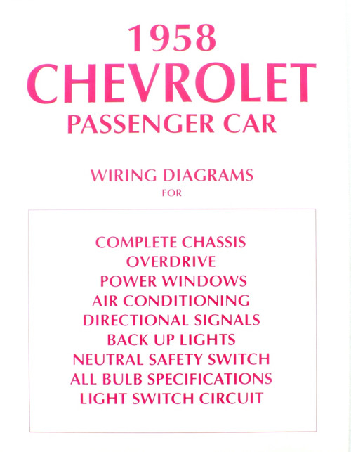 Cool Pack Air Conditioning Wiring Diagram For 1960 Chevrolet Passenger Car also 1959 Chevy Impala Wiring Diagram furthermore 1957 1963 Impala Headlight Switch Belair Nomad Biscayne 150 as well Sucp 0904 Chevy Engine Parts Detailing Guide moreover 1950 Chevrolet Styleline Deluxe Bel Air. on 1958 chevy belair wiring diagram