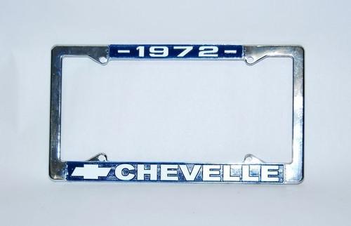 72 1972 CHEVELLE CHROME LICENSE PLATE FRAME