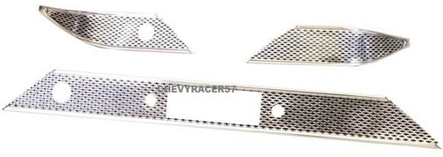 55 1955 CHEVY BEL AIR BOWTIE ALUMINUM DASH TRIM SET