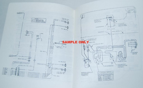 70 Chevy Nova Electrical Wiring Diagram Manual 1970