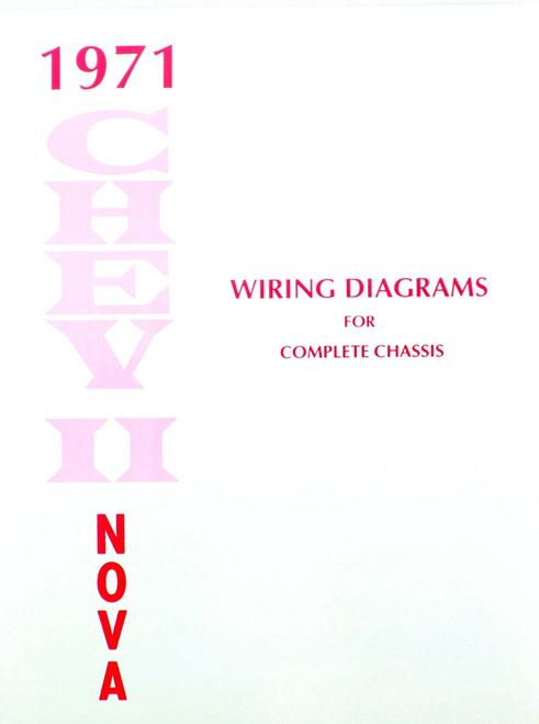 71 1971 Chevelle El Camino Electrical Wiring Diagram Manual - I-5 ...