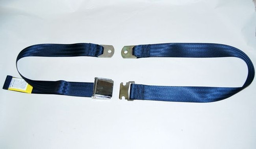 "74"" DARK BLUE LAP SAFETY SEAT BELT CHROME BUCKLE LATCH"