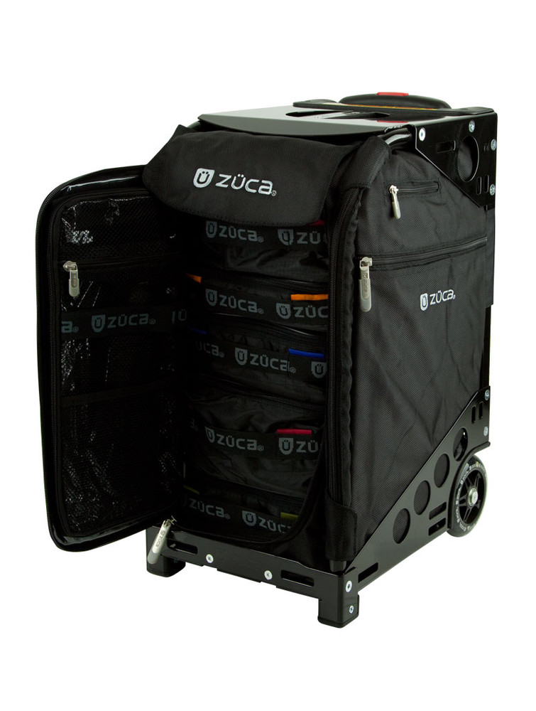 ZÜCA Pro Travel Black/Black - inside view w/organizer bags