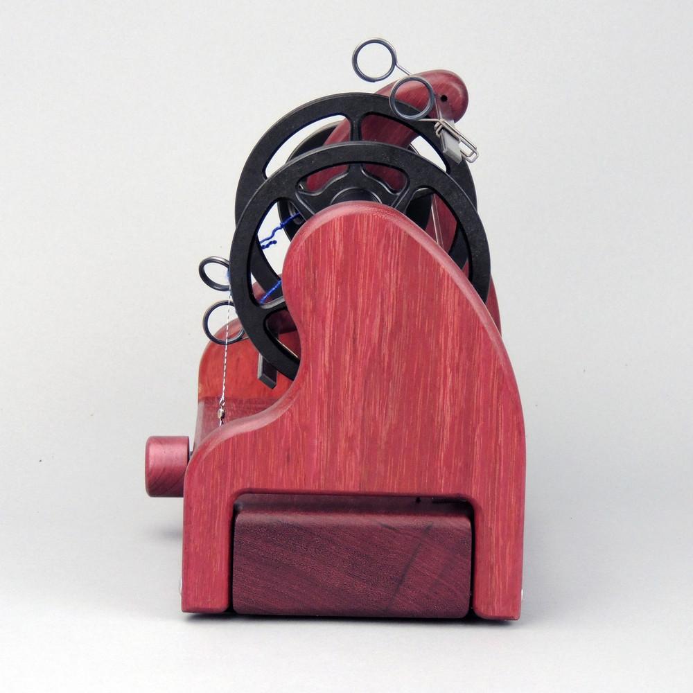 Classic miniSpinner w/ HansenCrafts Standard flyer - Purpleheart - rear view