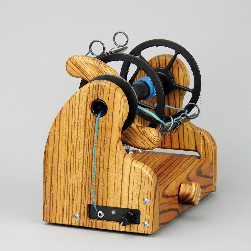 Classic miniSpinner w/ HansenCrafts Standard flyer - Zebrawood