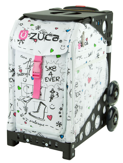 ZÜCA Sport bag with Sk8 insert. Frame comes in black, red, green, blue, pink, purple, brown, white, or gray.