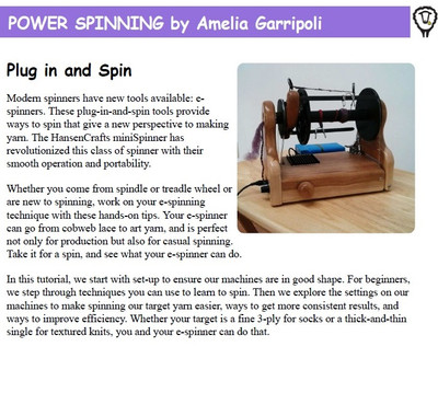 Power Spinning by Amelia Garripoli!