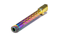 G34 Barrel, Flame Fluted, Threaded, Chameleon (Rainbow), 416R, Nitride, Match Series