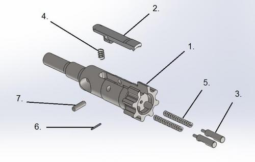 ARAK-21 Bolt Assembly - 7.62x39mm