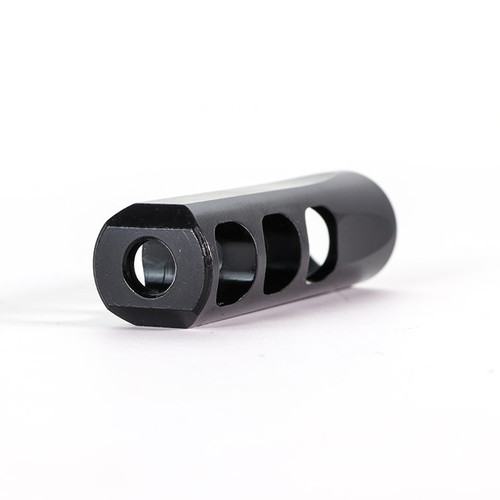 ".620"" SLIM 3 Port Muzzle Brake, Steel, QPQ Nitride"