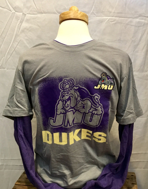 Youth JMU Dukes Double Layer LS Tee