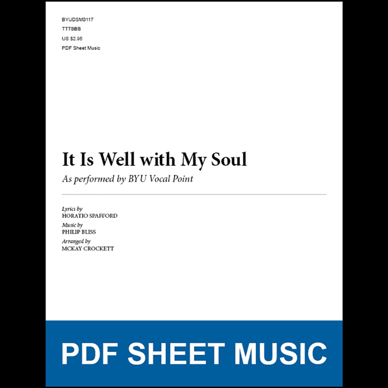 It Is Well with My Soul (Arr. by McKay Crockett - TTBB) [PDF Sheet ...