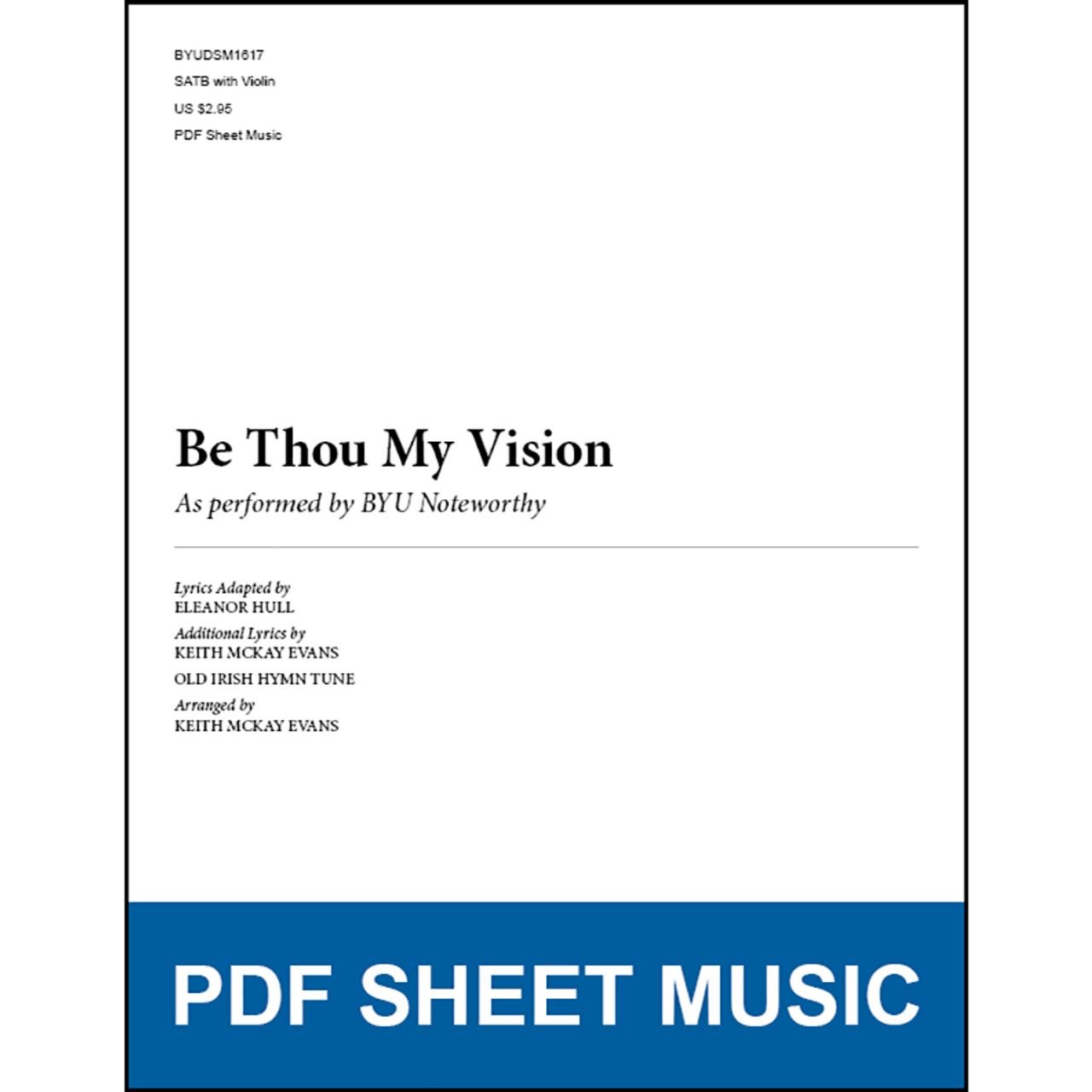 Be Thou My Vision (Arr. by Keith McKay Evans - SSAA) [PDF Sheet ...