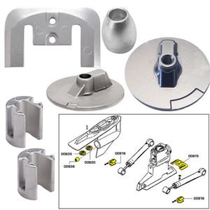 Tecnoseal Anode Kit w\/Hardware - Mercury Bravo 3 2004 - Aluminum [20805AL]