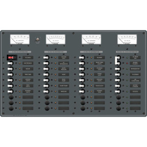 Blue Sea 8095 AC Main +8 Positions \/ DC Main +29 Positions Toggle Circuit Breaker Panel   (White Switches) [8095]