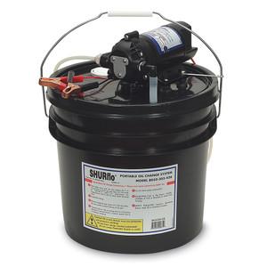 SHURFLO Oil Change Pump w\/3.5 Gallon Bucket - 12 VDC, 1.5 GPM [8050-305-426]
