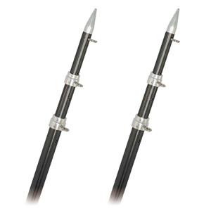 Rupp Top Gun Outrigger Poles - Fixed Length - Carbon Fiber - 18' [A0-1800-CF]