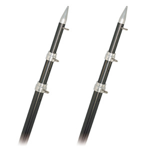Rupp Top Gun Outrigger Poles - Telescopic - Carbon Fiber - 18' [A0-1800-CFT]