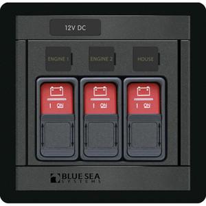 Blue Sea 1148 Remote Control Panel w\/(3) 2145 Remote Control Contura Switch [1148]