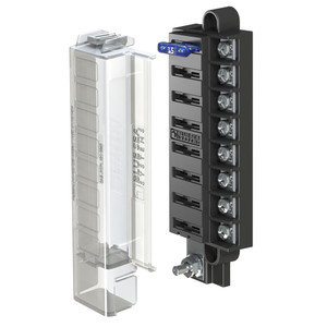 Blue Sea 5046 ST Blade Compact Fuse Blocks - 8 Circuits w\/Cover [5046]