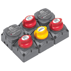 BEP Battery Distribution Cluster f\/Twin Outboard Engines w\/Three Battery Banks [717-140A-DVSR]