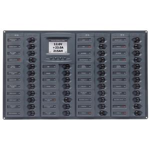 BEP Millennium Series DC Circuit Breaker Panel w\/Digital Meters, 44SP DC12V Horizonal [M44H-DCSM]
