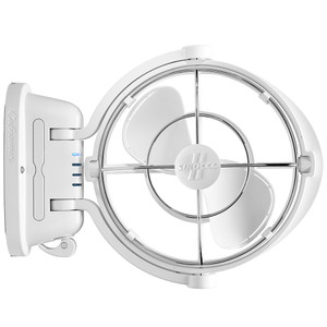 "Caframo Sirocco II 3-Speed 7"" Gimbal Fan - White - 12-24V [7010CAWBX]"