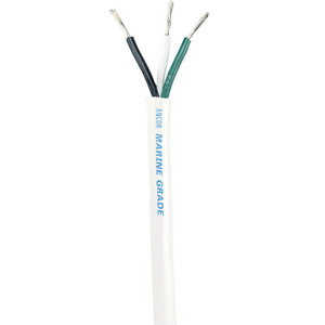 Ancor White Triplex Cable - 14\/3 AWG - Round - 900' [133590]