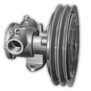 """Jabsco 1-1\/4"""" Electric Clutch Pump - Double A Groove Pulley - 12V [11870-0005]"""