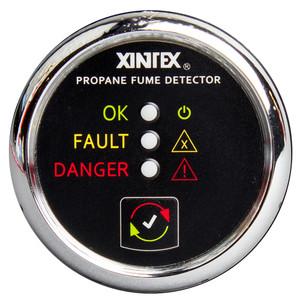 Xintex Propane Fume Detector w\/Plastic Sensor - No Solenoid Valve - Chrome Bezel Displa [P-1C-R]