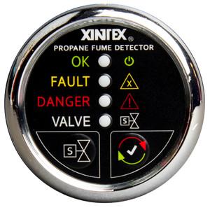 Xintex Xintex Propane Fume Detector w\/Plastic Sensor & Solenoid Valve - Chrome Bezel Display [P-1CS-R]