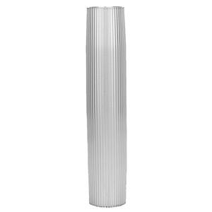 "TACO Aluminum Ribbed Table Pedestal - 2-3\/8"" O.D. - 26"" Length [Z60-8266VEL26-2]"
