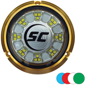 Shadow- Caster SCR-24 Bronze Underwater Light - 24 LEDs - Full Color Changing - *Case of 4* [SCR-24-CC-BZ-10CASE]