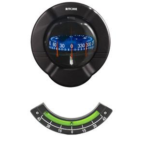 Ritchie SR-2 Venture Sail Boat Compass w\/Clinometer - Bulkhead Mount - Black [SR-2]