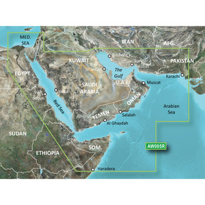 Garmin BlueChart g2 Vision HD - VAW005R - The Gulf & Red Sea - microSD\/SD [010-C0924-00]