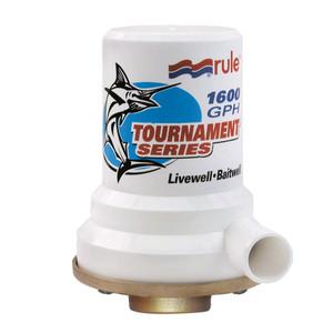 Rule Tournament Series Bronze Base 1600 GPH Livewell Pump [209B]