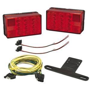 """Wesbar 4"""" x 6"""" LED Trailer Light Kit [407560]"""