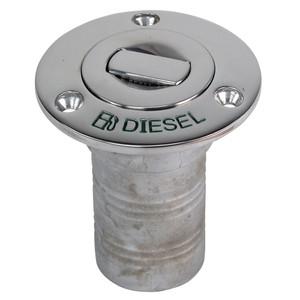 "Whitecap Bluewater Push Up Deck Fill - 2"" Hose - Diesel [6895CBLUE]"