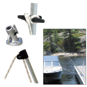 Dock Edge Premium Mooring Whips 2PC 12ft 5,000 LBS up to 23ft [3400-F]