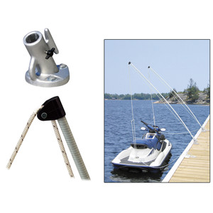 Dock Edge Economy Mooring Whips 12ft 4000 LBS up to 23 ft [3120-F]
