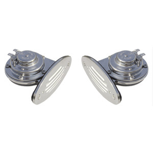 Ongaro Mini Dual Drop-In Horn w\/SS Grills High & Low Pitch [10055]