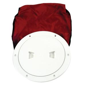 "Beckson 6"" Stow-Away Deck Plate - White w\/12"" Bag [DP60BW]"