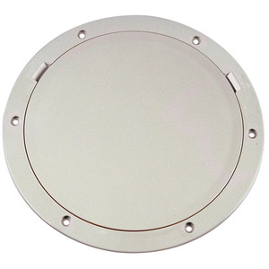"""Beckson 8"""" Smooth Center Pry-Out Deck Plate - White [DP81-W]"""