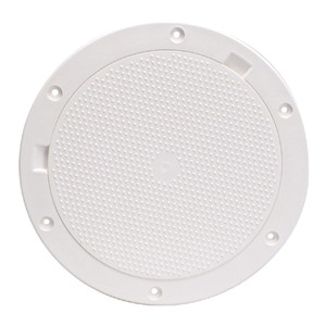 """Beckson 8"""" Non-Skid Pry-Out Deck Plate - White [DP83-W]"""