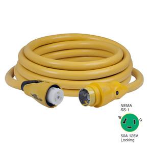 Marinco CS503-25 EEL 50A 125V Shore Power Cordset - 25' - Yellow [CS503-25]